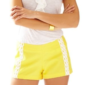 LILLY PULITZER Liza short in sunglow yellow
